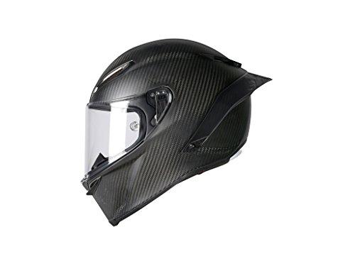 AGV Casco Moto Pista Gp R E2205 Solid PLK, Matt Carbon, L