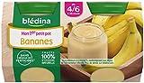 Blédina Mon 1er Petit Pot Compote Bananes dès 4/6 mois 2 x 130 g - Pack de 12