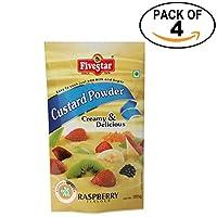 Custard Powder Raspberry Pouch 100g, Pack of 4