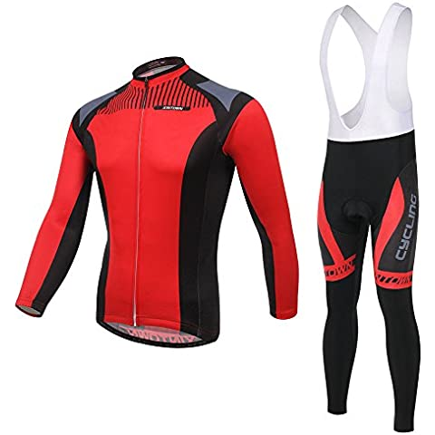 Largo manga Ciclismo Jersey conjuntos hombres, ropa en 3D acolchados bicicleta ropa deportiva transpirable montaña bicicleta MTB secado rápido ,