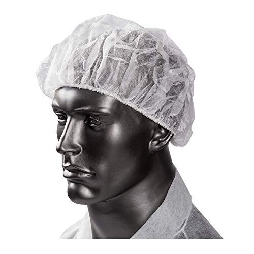 ASP Online Traders Packung mit 100 Einweg-Moppkappen, Kopfbedeckung, Haarnetz, 8 Zoll, weiße Farbe