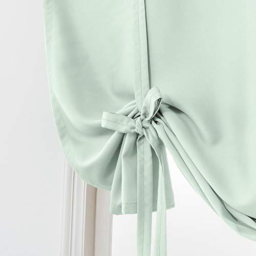 QQDJ Thermisch Isolierte Kurzer Vorhang,farbtöne Roman Solid Farbe Gardinen Für Küche Windows Dunkle Krawatte, Vorhänge Für Die Vorhänge-r 60x140cm(24x55inch)