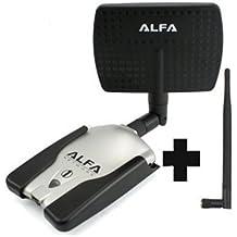 Adaptador WIFI ALFA 1000mW AWUS036h USB SMA 1W REGALO GRATIS ANTENA DE PANEL WIRELESS REALTEK 8187L ORIGINAL