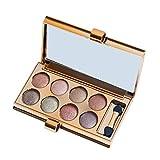Lovinda Lidschatten Palette 8 Farben Pfirsich Make-up geräucherte Erde Farbe Make-up Augenschatten Farbpalette Natürliche Schimmer Mattt Mit Lidschattenpinsel