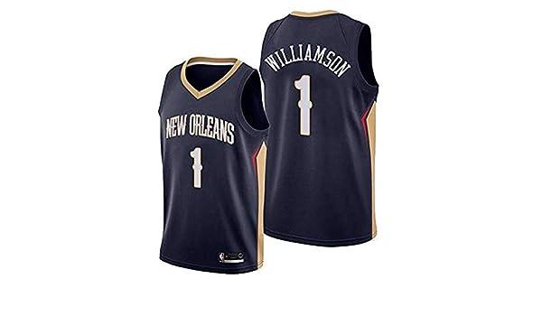 blau M WOLFIRE SC Herren Basketballtrikot NCAA Duke 1#Zion Williamson Swingman Stickerei Atmungsaktiv und verschlei/ßfest T-Shirt f/ür Fan