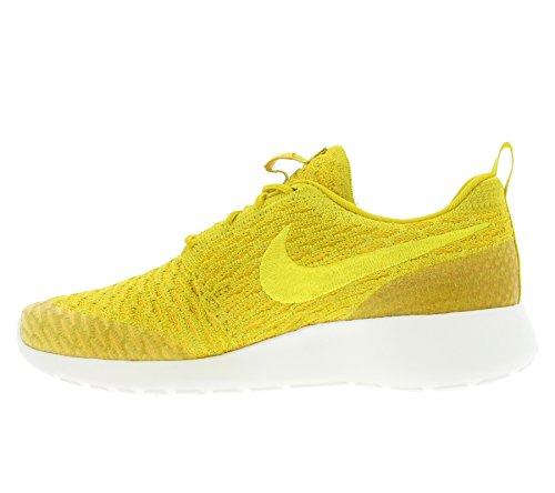 Nike - WMNS Roshe One Flyknit, Scarpe sportive Donna Oro (Dorado (Gld Ld / Tr Yllw-Unvrsty Gld-Sl))