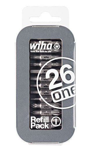 Wiha, Bit-Nachkaufset für Liftup 26one, 13 Doppelbits, weltweit: Torx, Phillips/Kreuz, Schlitz, Pozidriv, Innenvierkant, Innensechskant (Refill Pack 1)