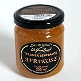 Original Tessiner Aprikosen-Senfsauce 200ml Die Tessiner Aprikosen-Senfsauce ist eine süß-scharfe Sauce für alle herzhaften und süßen Gerichte. Obwohl die pürierten Aprikosen durch das Senföl einen scharfen Touch erhalten, kann bei exotischen Gericht...