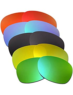 Hkuco Mens Replacement Lenses For Ray-Ban Wayfarer RB2132 55mm Red/Blue/Black/24K Gold/Emerald Green Sunglasses