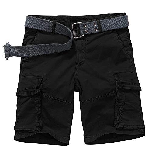 Jessie Kidden Herren Cargohose Regular Army Combat Arbeitshose Arbeitshose mit 8 Taschen #7533 46 Black #6029 Dk Taschen