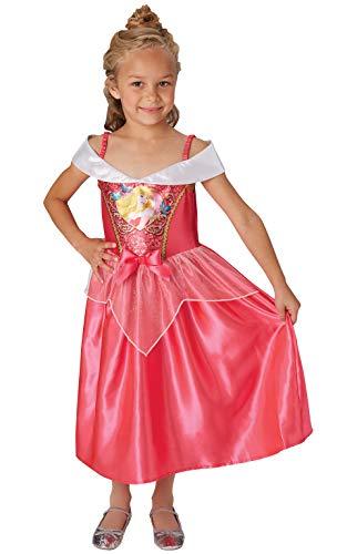 Rubie's Offizielles Disney Prinzessin Pailletten Schlafende Schönheit, klassisches Kostüm, Kinder Größe S Alter 5–6 Jahre, Höhe 116 ()