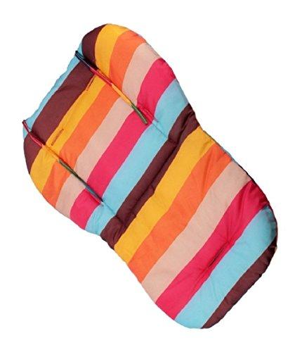 Imagen para Cojín trona, Amcho Baby Cochecito / Trona / Asiento de coche Película protectora Respirable Impermeable Pad (Rainbow Stripes)