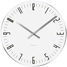 Karlsson KA4923 Orologio da Muro XL Slim Index, Bianco