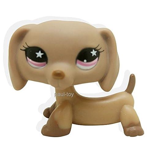 Littlest Pet Shop chien Teckel Dachshund Dog with Pink Star Eyes # 932