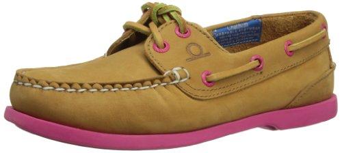 Chatham Pippa, Chaussure bateau femme marron (Tan/Pink)