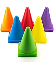 Belco Sports 6 Inch Cone Marker Set (Pack of 5, 8, 10, 12, 15)