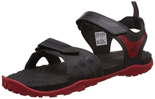 adidas Men's Escape 2.0 Dark Grey, Black and Red Sandals and Floaters - 7 UK  available at amazon for Rs.2149