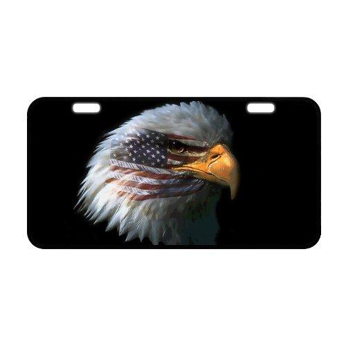 USA AMERICAN FLAG Bald Eagle langlebiges Aluminium Auto Nummernschild 30x 15,5cm - American Flag License Plate