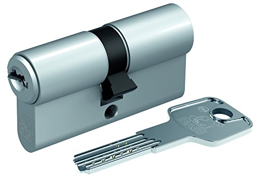Preisvergleich Produktbild BASI BM Profilzylinder mit 3 Wendeschlüsseln und Not-/Gefahrenfunktion, 1 Stück, 35/55, matt vernickelt, BM5200-0525