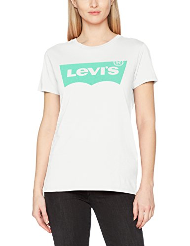Levi's The Perfect tee, Camiseta para Mujer, Blanco (Better Batwing Cloud Dancer 0305), Large
