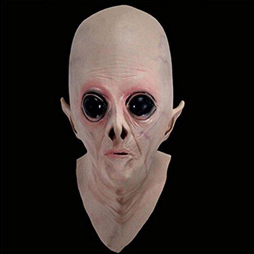 Demarkt Alien Full Head Latex Maske Fancy Kleid Halloween Böse Spirituosen Maske Ghost Latex Maske Horror Kopfbedeckung Alien Silikon Hülle
