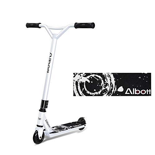 Albott Stunt Scooter 360° Lenkung Sports Tretroller Roller mit 100mm PU-Grün Wheels Kickscooter für Kinder Erwachsene