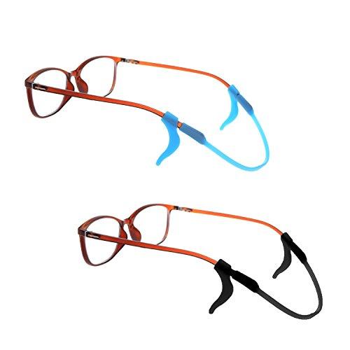 3Universal Classic Silikon Brillen Sonnenbrille Brille Anti-Rutsch Eyewear Retainer mit pleastic Box
