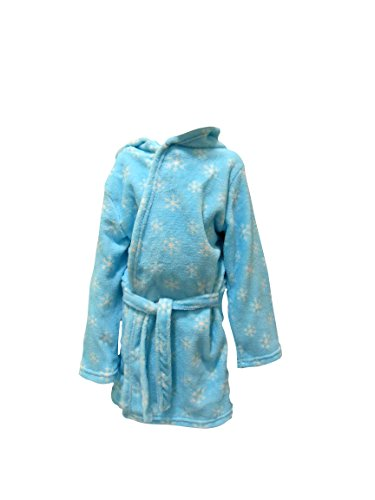 Girls-Disney-Frozen-Hooded-Fleece-Dressing-Gown-Elsa-Anna-Bath-Robe-Kids-Size-UK-2-8-Years