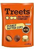 Treets - Peanut Butter Cups minis Milchschokolade mit Erdnussfüllung - 135g