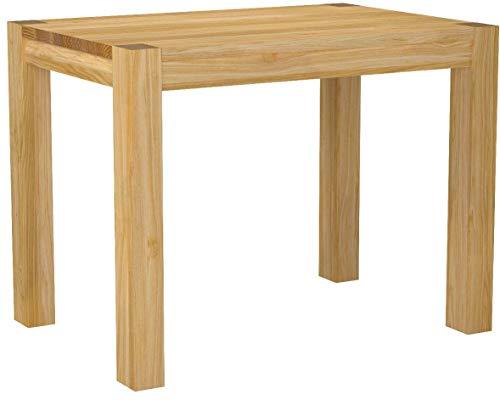 Naturholzmöbel Seidel Esstisch Küchentisch,Rio Bonito, 100x70cm, Pinie Massivholz, geölt und gewachst, Tisch Farbton Honig hell, Optional erhältlich: passende Bänke