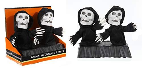 ween ''Tanzende Sensenmänner'' animiert | Halloween Deko | Party Zubehör | Sensenmann | Geister | Skelett | Halloween Accessoires | Gespenst | Zombies | Halloweenparty ()