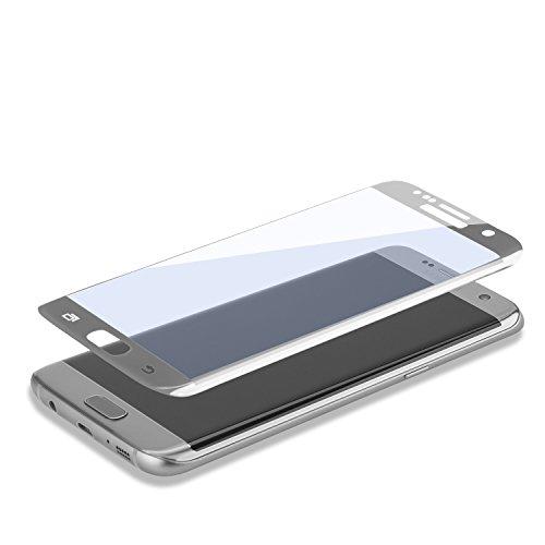4smarts 492888 Displayschutz Second Glass Curved für Samsung Galaxy S7 Edge Silber