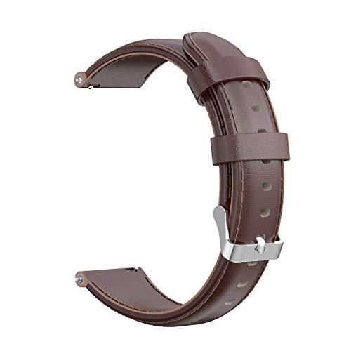LILICAT 20MM Uhrenarmband, Klassiker Serie Lederarmband Ersatband mit Edelstahl Metall Schließe für Herren Damen Expedition/Weekender
