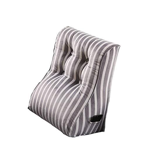 JSFQ Cuscino Triangle Bed Capo Cuscino Tela Staccabile Ufficio Divano Borsa Morbida Grande Cuscino (Size, 55X60cm), C, 45x55cm (Color : C, Size : 55X60cm)