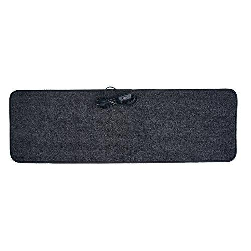 Infrarot Heizmatte 35x110cm Heiz-Teppich Fußwärmer Wärmematte Anthrazit Grau