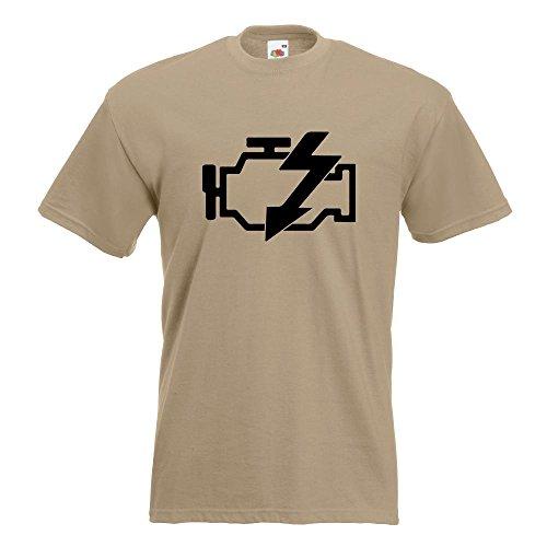 Kiwistar Motorkontrollleuchte T-Shirt in 15 verschiedenen Farben Herren Funshirt bedruckt Design Sprüche Spruch Motive Oberteil Baumwolle Print Größe S M L XL XXL Khaki