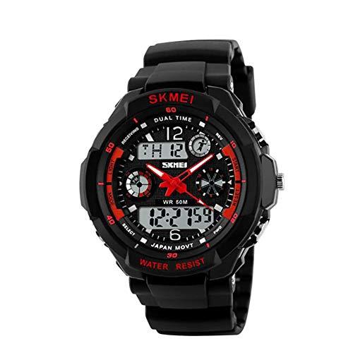 SUPER HOME Mode Mann Sportuhr analoge Quarz Digitaluhr Multifunktionsmilitärs Uhr 5 Farben