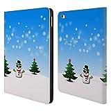 Head Case Designs Offizielle PLdesign Cooler Schneemann Weihnachten Brieftasche Handyhülle aus Leder für iPad Air 2 (2014)