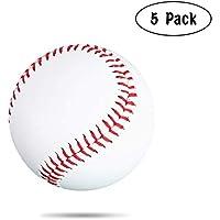 Práctica de Base de béisbol de Cuero Suave de la PU del béisbol Blanco para la enseñanza del béisbol de los Estudiantes de la Escuela