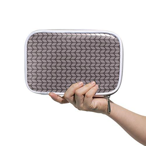 FAJRO Make-up-Tasche mit großer Kapazität, für Stifte, Braun, Cartoon-Pullover, Textur, Büro, College, Mädchen, Erwachsene, große Aufbewahrung. - College-hund-pullover