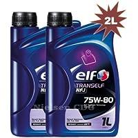Elf Tranself NFJ 75W-80 - Aceite de motor, 2 botellas de 1 litro