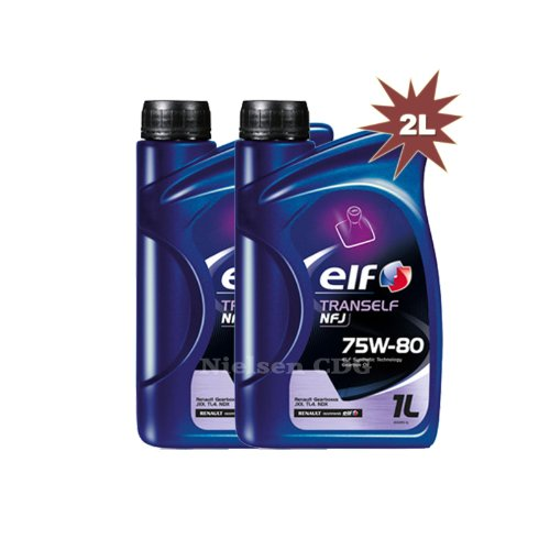 Elf tranself NFJ) 75W Gear Öl 2x 1L = 2Liter (Nissan Getriebe Manuelle)