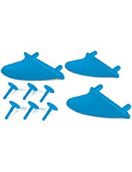 Osprey Foam Surfboard Fins (3 Pack) - Blue