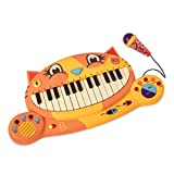 B Toys - Meowsic Toy Piano - Children's Keyboard Musical Instrument with Toy Microphone for Kids 2 Years +