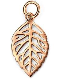 Elements: Fine Leaf Pendant, Sterling Silver
