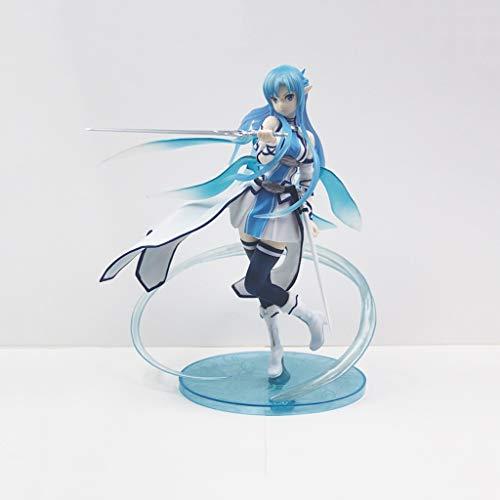 HappyL Sword Art Online Anime Statue AsunaYuuki Modelo de Juguete PVC Anime Decoración Colección-9in Estatua de Juguete