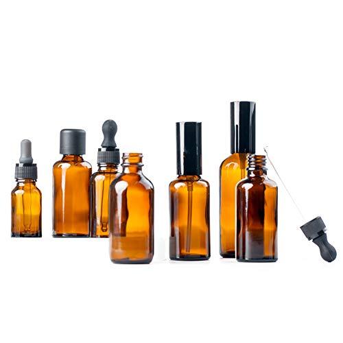 6Pcs DIY nachfüllbar Leer-Amber-Flasche mit Tropfer und Cap Glasflaschen für Ätherische Öle Oil Kit Blends Zubehör Werkzeug -