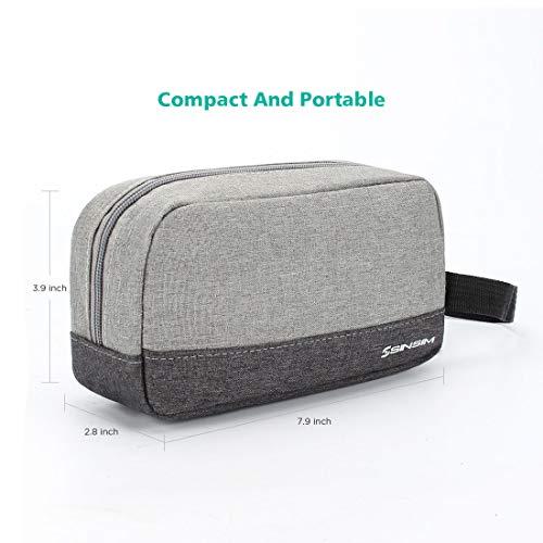 SINSIM Elektronische Accessories Carrying Tasche Case für Ladegerät USB Kabel SD Speicherkarten Kopfhörer Flash Hard Drive Wireless Mouse Power Bank und More, Grau - 2