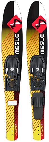MESLE Combo-Ski Easy Go 137 cm, Kinder und Jugend Wasserski, mit Monoschlaufe, gelb rot schwarz