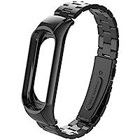Coloré(TM Bracelet Connecté, pour Xiaomi Mi Band 3 Fashion Bracelet en Acier Inoxydable de Luxe Bracelet en métal